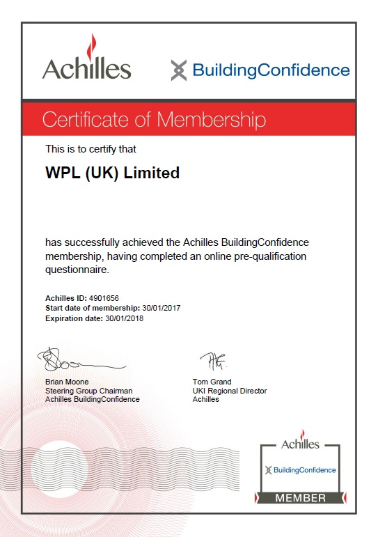 WPLUK Achilles Building Confidence Membership to 30th January 2017