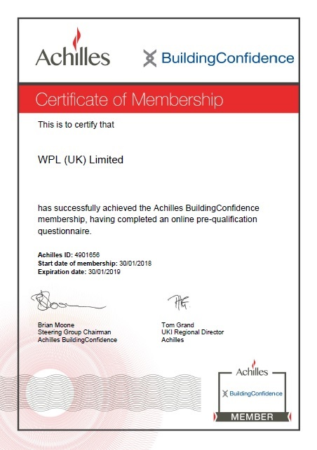 WPLUK Achilles Building Confidence Membership to 30th January 2019