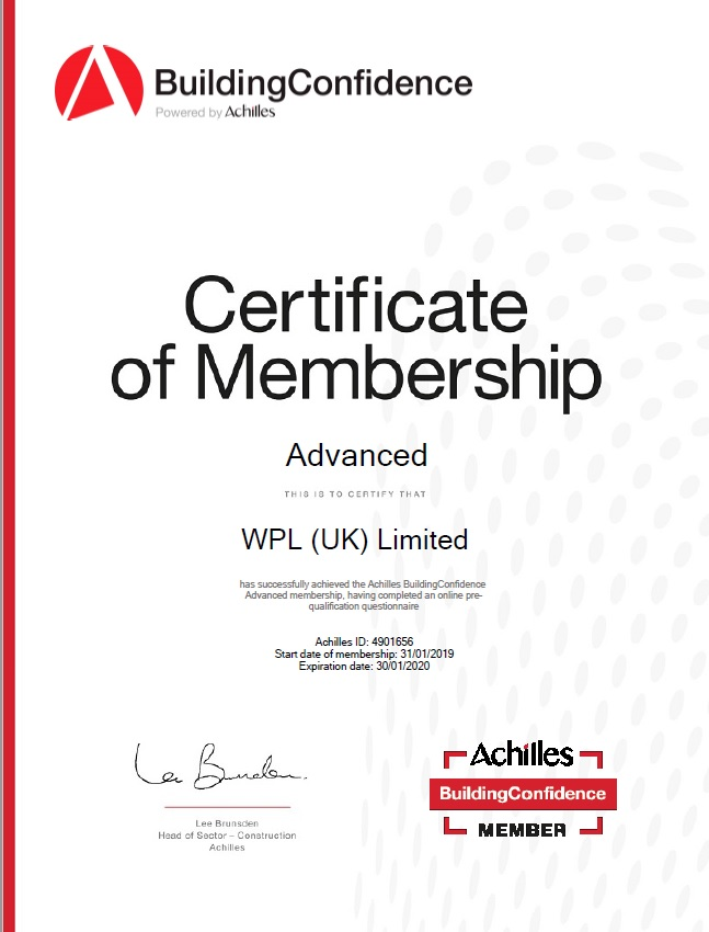WPLUK Achilles Building Confidence Membership to 30th January 2020